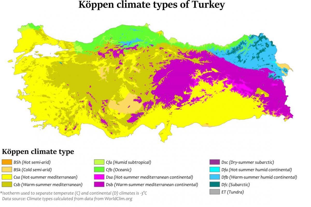 éghajlati térkép Törökország éghajlati térkép   Térkép Törökország éghajlata